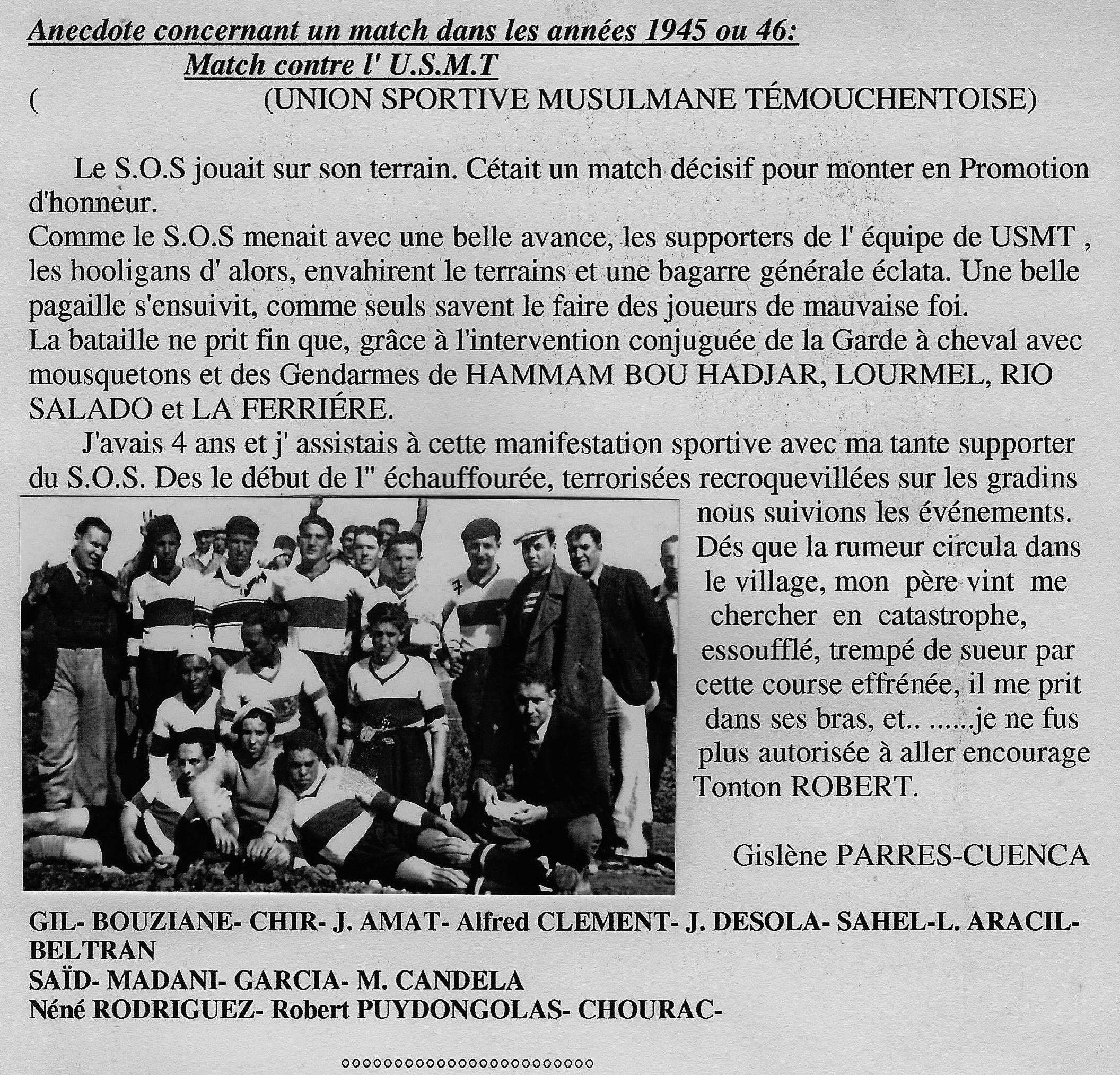 Match à RIO SALADO 1945 _Archives RIO _