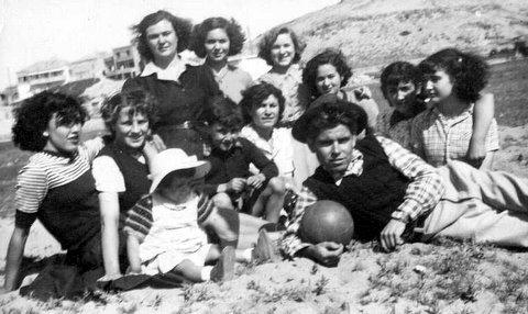 1957 - Familles Sanchez, Lopez et amis